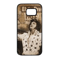Vintage Elvis Presley Samsung Galaxy S7 Edge Black Seamless Case