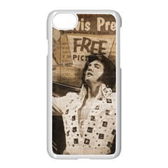 Vintage Elvis Presley Apple Iphone 7 Seamless Case (white)