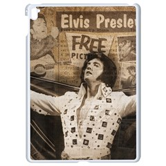 Vintage Elvis Presley Apple Ipad Pro 9 7   White Seamless Case