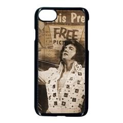 Vintage Elvis Presley Apple Iphone 8 Seamless Case (black)
