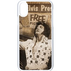 Vintage Elvis Presley Apple Iphone X Seamless Case (white)