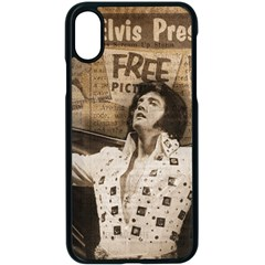 Vintage Elvis Presley Apple Iphone X Seamless Case (black)