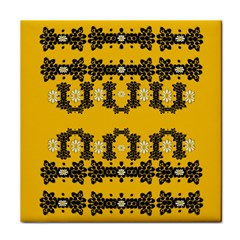Ornate Circulate Is Festive In Flower Decorative Tile Coasters