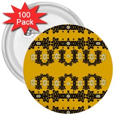 Ornate Circulate Is Festive In Flower Decorative 3  Buttons (100 Pack)