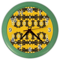 Ornate Circulate Is Festive In Flower Decorative Color Wall Clocks