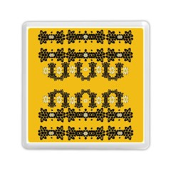 Ornate Circulate Is Festive In Flower Decorative Memory Card Reader (square)