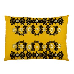 Ornate Circulate Is Festive In Flower Decorative Pillow Case (two Sides)