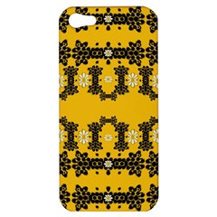 Ornate Circulate Is Festive In Flower Decorative Apple Iphone 5 Hardshell Case