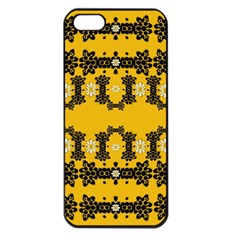 Ornate Circulate Is Festive In Flower Decorative Apple Iphone 5 Seamless Case (black)