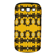Ornate Circulate Is Festive In Flower Decorative Samsung Galaxy S Iii Classic Hardshell Case (pc+silicone)
