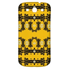 Ornate Circulate Is Festive In Flower Decorative Samsung Galaxy S3 S Iii Classic Hardshell Back Case