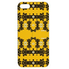 Ornate Circulate Is Festive In Flower Decorative Apple Iphone 5 Hardshell Case With Stand