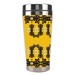 Ornate Circulate Is Festive In Flower Decorative Stainless Steel Travel Tumblers