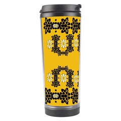 Ornate Circulate Is Festive In Flower Decorative Travel Tumbler