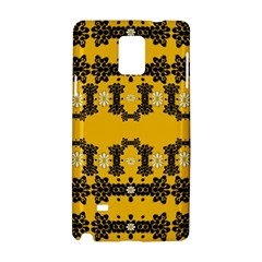 Ornate Circulate Is Festive In Flower Decorative Samsung Galaxy Note 4 Hardshell Case