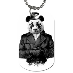 Rorschach Panda Dog Tag (two Sides)