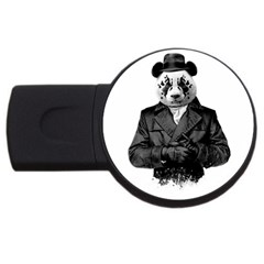 Rorschach Panda Usb Flash Drive Round (4 Gb)