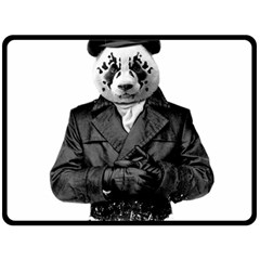 Rorschach Panda Double Sided Fleece Blanket (large)