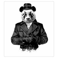 Rorschach Panda Drawstring Pouches (large)