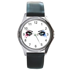 Look Of Madness Round Metal Watch