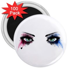 Look Of Madness 3  Magnets (100 Pack)