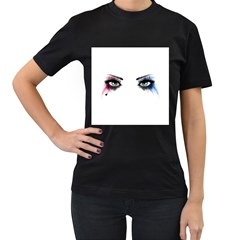 Look Of Madness Women s T Shirt (black) (two Sided)