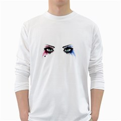 Look Of Madness White Long Sleeve T Shirts
