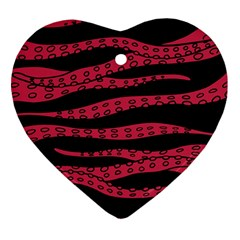 Blood Tentacles Heart Ornament (two Sides)