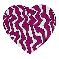 Electric Pink Polynoise Ornament (heart)