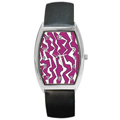 Electric Pink Polynoise Barrel Style Metal Watch