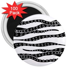 Hand Made Tentacle 3  Magnets (100 Pack)
