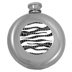 Hand Made Tentacle Round Hip Flask (5 Oz)