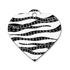 Hand Made Tentacle Dog Tag Heart (one Side)