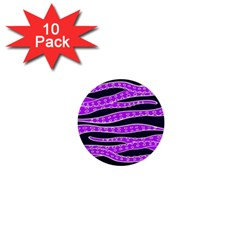 Purple Tentacles 1  Mini Buttons (10 Pack)