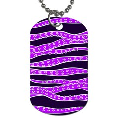 Purple Tentacles Dog Tag (one Side)