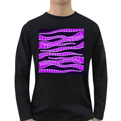 Purple Tentacles Long Sleeve Dark T Shirts