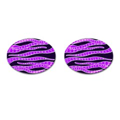 Purple Tentacles Cufflinks (oval)