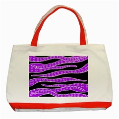 Purple Tentacles Classic Tote Bag (red)