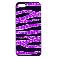 Purple Tentacles Apple Iphone 5 Seamless Case (black)