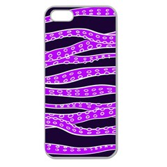 Purple Tentacles Apple Seamless Iphone 5 Case (clear)