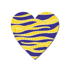 Yellow Tentacles Heart Magnet