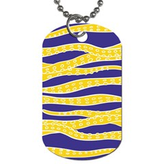 Yellow Tentacles Dog Tag (one Side)