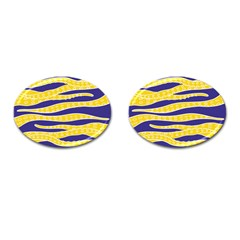 Yellow Tentacles Cufflinks (oval)