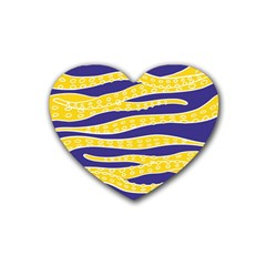 Yellow Tentacles Heart Coaster (4 Pack)