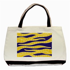 Yellow Tentacles Basic Tote Bag (two Sides)