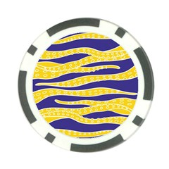 Yellow Tentacles Poker Chip Card Guard (10 Pack)