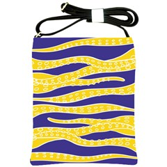 Yellow Tentacles Shoulder Sling Bags