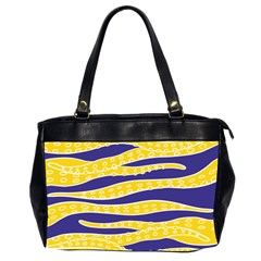 Yellow Tentacles Office Handbags (2 Sides)