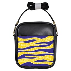 Yellow Tentacles Girls Sling Bags