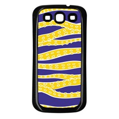 Yellow Tentacles Samsung Galaxy S3 Back Case (black)